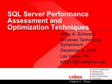 SQL Server performance and optimization - Demand Technology ...