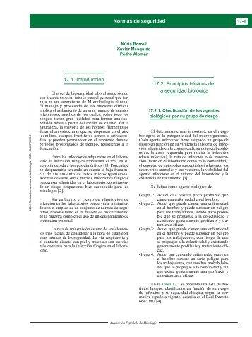 17.1. Introducción 17.2. Principios básicos de la seguridad biológica ...