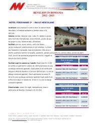 REVELION IN ROMANIA 2012 - 2013 - Mondo Viaggi