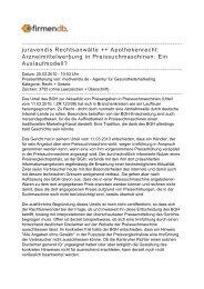 juravendis Rechtsanwälte ++ Apothekenrecht ... - Firmendb