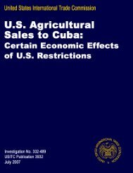 Certain Economic Effects of US Restrictions - USITC