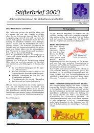 Stifterbrief 2003 - Stiftung Pfadfinden
