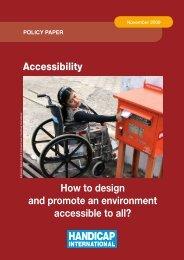 Accessibility - Handicap International