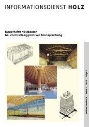HOLZ Dauerhafte Holzbauten bei  chemisch-aggressiver ...