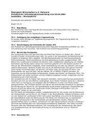 Protokoll der Jahreshauptversammlung 2004 - Öko-Verein Pellworm