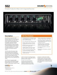 Fact Sheet - Sound Devices, LLC