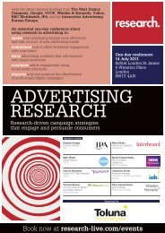 Advertising Research conference, 14 July 2011 - Research-live.com