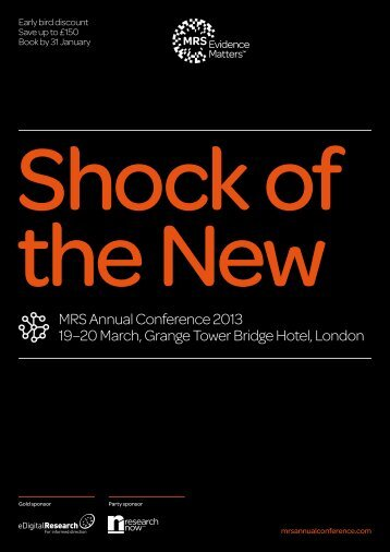 MRS Annual Conference 2013 programme downlaod