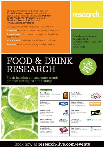 FOOD & DRINK RESEARCH - Research-live.com