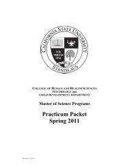File Cover Sheet - Psychology and Child Development - CSU ...