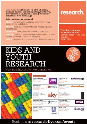Kids and Youth Research conference, 16 November 2011