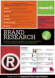 Brand Research conference, 9 June 2011 - Research-live.com