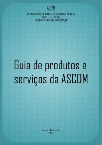 Guia de Produtos e Serviços da ASCOM - UFRB