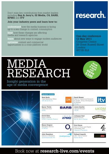 Media Research conference, 12 May 2011 - Research-live.com
