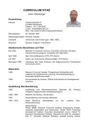 CURRICULUM VITAE - Department of Computer Science - ETH Zürich