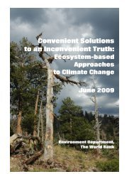 Convenient Solutions to an Inconvenient Truth: Ecosystem-based