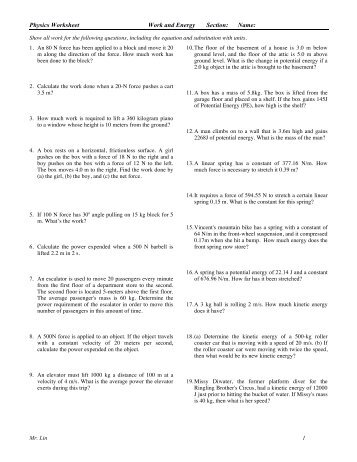 kinetic energy problems worksheet free worksheets library download and print worksheets free. Black Bedroom Furniture Sets. Home Design Ideas