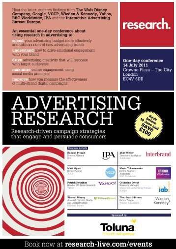 ADVERTISING RESEARCH - Research-live.com