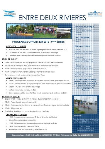 Programme E2R juillet 2012