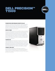 Dell Precision T1500 Data Sheet - Cadspec
