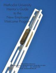 New Employee Welcome Program Mentor's Guide - Methodist ...