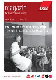 Frauen im öffentlichen Dienst 100 Jahre ... - Landesbeamte