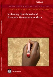 Sustaining Educational and Economic Momentum in Africa - ADEA
