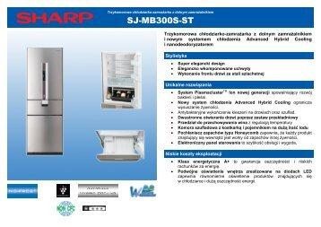 SJ-MB300S-ST Leaflet PL - Sharp