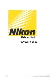 Price List - Nikon