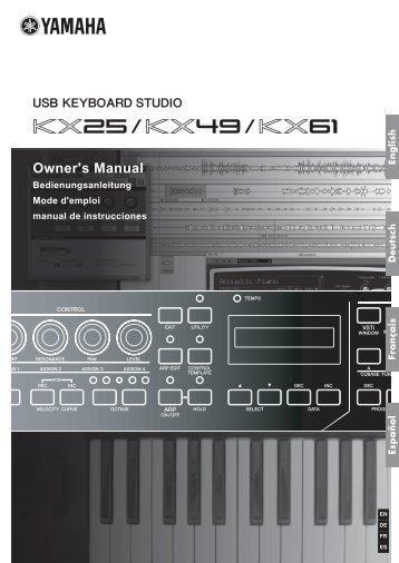 KX25/KX49/KX61 Owner's Manual - Univers-sons.com