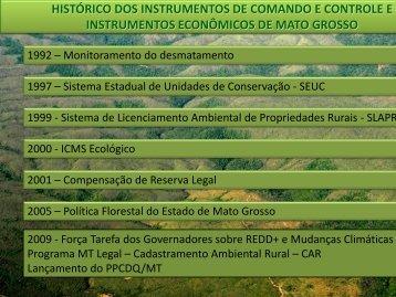 HISTÓRICO DOS INSTRUMENTOS DE COMANDO E ... - GCF