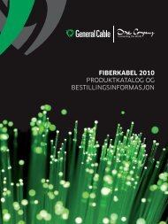 Fiberkabel 2010 - General Cable Nordic AS