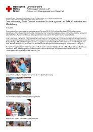 Gesundheitstag Eutin: Großes Interesse für die ... - DRK-Schul