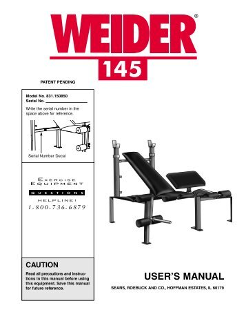 weider 145 - Fitness Equipment