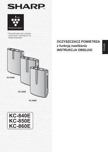 KC-840E/850E/860E Operation-Manual PL - Sharp