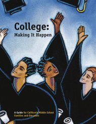College: Making It Happen - CaliforniaColleges.edu