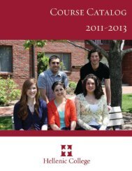 Hellenic College Course Catalog