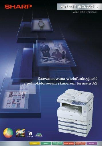 AR-M160/205 Brochure PL - Sharp