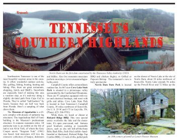 Southeastern Tennessee is one of the - Vitality Magazine Cape Cod