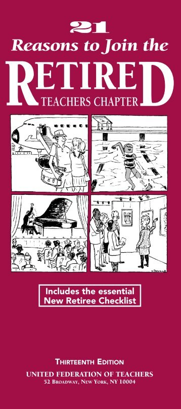 consult your UFT-RTC Retiree Handbook - United Federation of ...