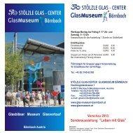Stölzle Glas-Center - Glas Museum Bärnbach - Glasmuseum.at