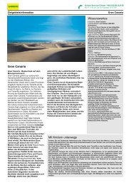 Zielgebietsinformation Gran Canaria - Tjaereborg