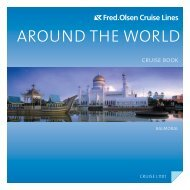 Available upgrades for cabins and flights - Fred Olsen Cruises