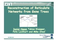 Reconstruction Reconstruction of Reticulate Reticulate Networks ...