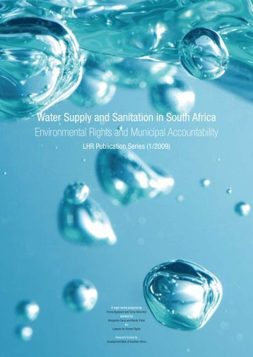 Water Supply and Sanitation in South Africa Environmental Rights ...