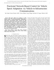 Fractional Network-Based Control for Vehicle Speed Adaptation via ...