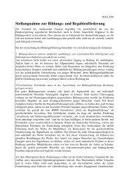 Stellungnahme zur Bildungs und Begabtenförderung - Cusanus.net
