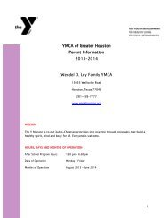 Wendel D. Ley Family YMCA Facility Guide - YMCA of Greater ...