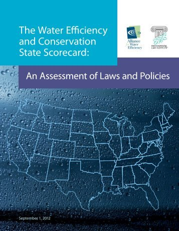 The Water Efficiency and Conservation State Scorecard: - Catawba ...
