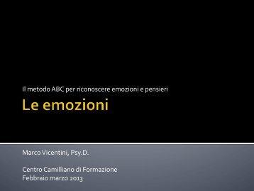 Le emozioni - Marco Vicentini